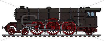 Classic black steam locomotive