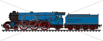 Old blue steam locomotive