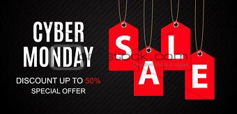 Cyber Monday Sale Deals Design Template Vector Illustration