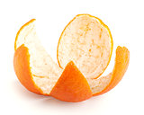 Orange peel isolated