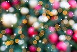 Christmas Holiday Tree Decoration Blurred Bokeh with Sparkles