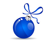 Christmas ball - Blue - Decorated design