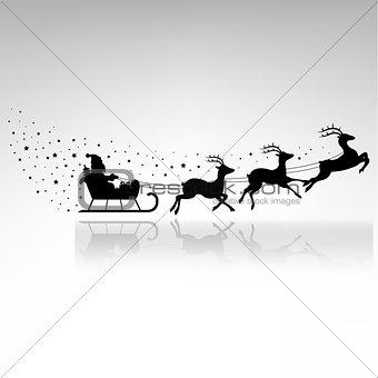 Santa Claus Driving In A Sledge