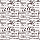 Coffee inscriptions on white background. vector illustration.