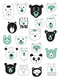 Vector Set of Bears