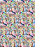 Vector Otomi Style  Pattern