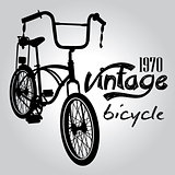 Vintage bicicle vector graphic design.