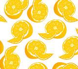 Fruit tangerine pattern