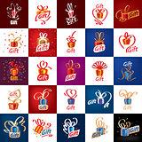 vector logo gift
