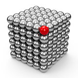 The Neocube spheres with red sphere
