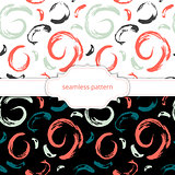 Vector seamless pattern. Abstract background with brush strokes.