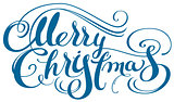Merry Christmas ornate calligraphy text for greeting card