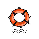 Lifebuoy, sketch for your design