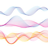 Graphic vector abstract light waves