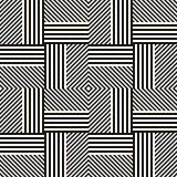 Abstract geometric pattern with stripes, lines. Seamless vector ackground. Black and white lattice texture.