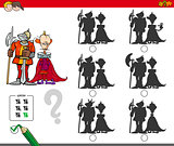 educational shadow game with king and knight
