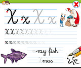 how to write letter X worksheet for kids