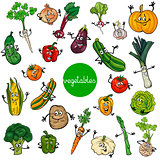 cartoon vegetables characters collection