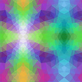 vector abstract irregular polygon pattern with a triangular in rainbow spectrum colors