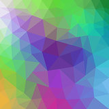 vector abstract irregular polygon background with a triangular in rainbow spectrum colors