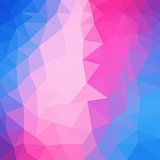 Light Pink, Blue vector polygonal background. Colorful abstract illustration with gradient. Triangular background for your business design.