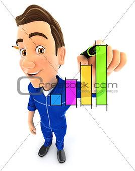 3d mechanic hand drawn graph