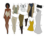 Dressing paper doll