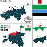Map of Harju, Estonia