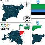 Map of Ida Viru, Estonia