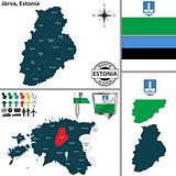 Map of Jarva, Estonia