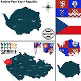 Map of Karlovy Vary, Czech Republic