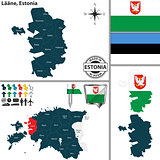 Map of Laane, Estonia