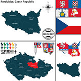 Map of Pardubice, Czech Republic
