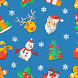 Illustration for Christmas and New Year Flat design Pattern Vector illustration