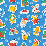 Illustration for Christmas and New Year Flat design Vector illustration applique