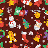 Illustration for Christmas and New Year Flat design Vector illustration