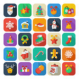 Set of Christmas and New Year icons. vector clipart