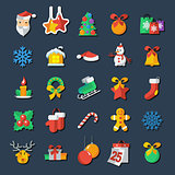 Set of Christmas and New Year icons vector clipart