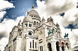 The Sacre-Coeur in Paris, France.