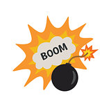 pop art bomb pow with bubble speech design