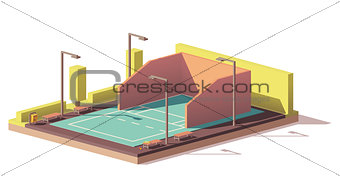 Vector low poly racquetball court