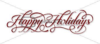 Happy Holidays text