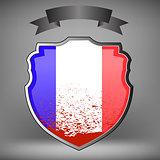 French Shield and Black Ribbon