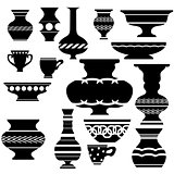 Set of Vases Silhouettes