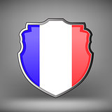 French Shield Isolated