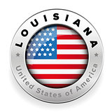 Louisiana Usa flag badge button