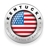 Kentucky Usa flag badge button