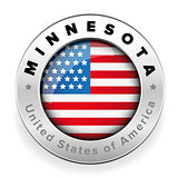 Minnesota Usa flag badge button