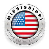 Mississippi Usa flag badge button