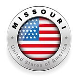 Missouri Usa flag badge button